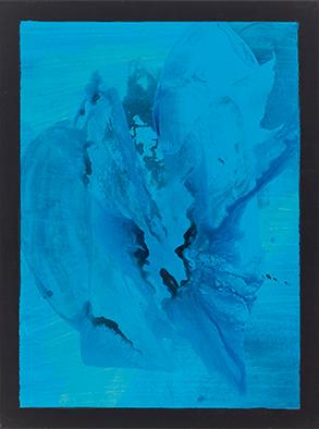 Unterwasserbeben, 2014/2020, Acryl auf Nessel, 80x60 cm