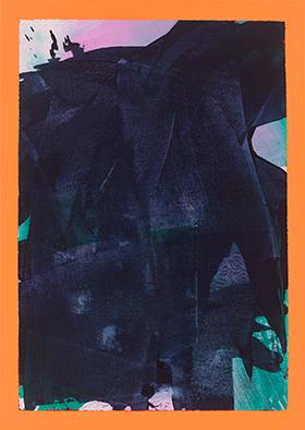 Zarte Erinnerung, verdeckt, 2020, Acryl auf Leinwand, 70x50 cm