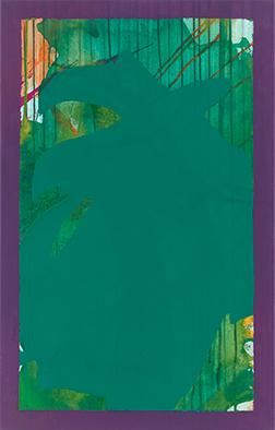 Immergrün ist violett II, 2015/2020, Acryl auf Nessel, 70x45 cm