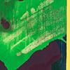 Grün in alten Spuren, 2008/2020, Acryl auf Leinwand, 60x50 cm