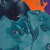 Widerständig, 2018, Acryl auf Nessel, 100x120 cm