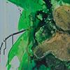 Frühlingsausbruch, 2019, Acryl, Schellack auf Nessel, 120x135 cm